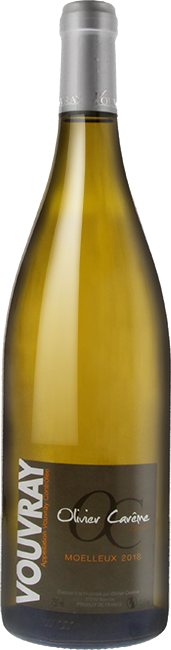 Bouteille Vouvray vin blanc moelleux 2018