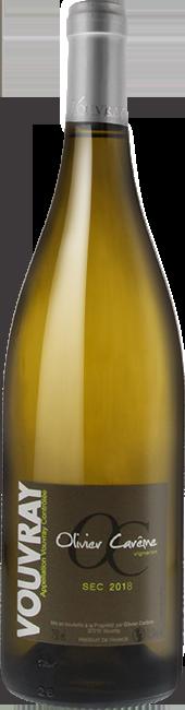 Bouteille Olivier Carême Vouvray vin blanc sec 2018 AOC