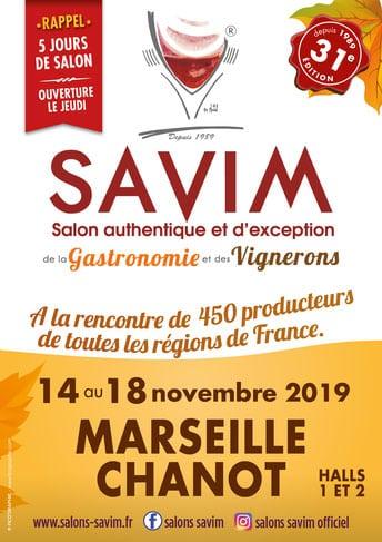 Affiche du salon des vignerons à Savim 2019
