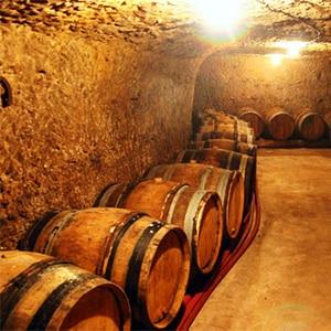 Tonneau dans la cave de Vouvray d'Olivier Carême