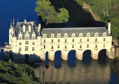 Château de Chenonceau vue du ciel