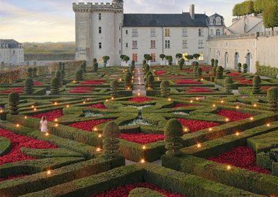 Le Château de Villandry et ses jardins en fleurs