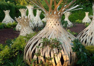 Un des créations végétales du Festival des Jardins au Château de Chaumont